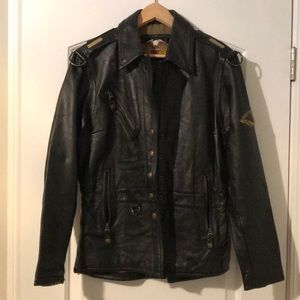 *WOW*Harley Davidson Biker Leather Jacket